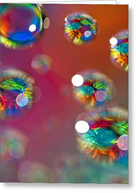 Fractal Orbs Greeting Cards - Study 151 Greeting Card by Al Hurley