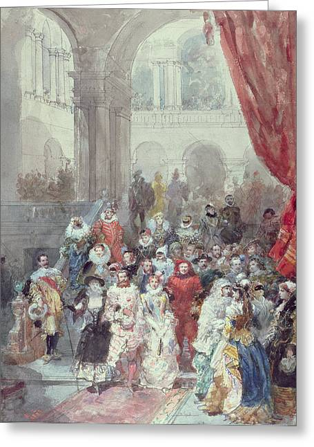 The Ball Greeting Cards - Study for a costume ball given by the Princess of Sagan Greeting Card by Eugene-Louis Lami