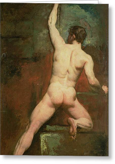 Study For A Male Nude Greeting Card by William Etty