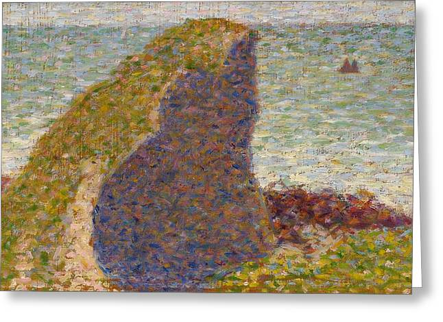 Seurat Greeting Cards - Study for Le Bec du Hoc Greeting Card by Georges Seurat