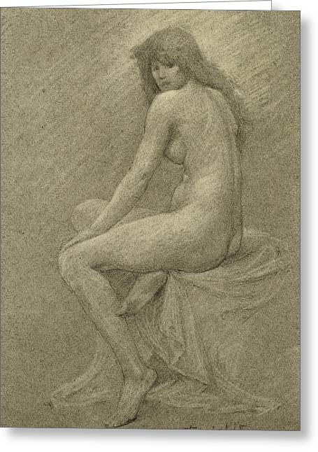 Full Body Drawings Greeting Cards - Study for Lilith Greeting Card by Robert Fowler