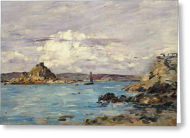 Eugene Greeting Cards - Study for The Bay of Douarnenez Greeting Card by Eugene Boudin