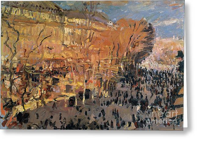 """""""shadow Trees"""" Greeting Cards - Study for The Boulevard des Capucines Greeting Card by Claude Monet"""