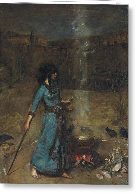 Study For The Magic Circle, 1886  Greeting Card by John William Waterhouse