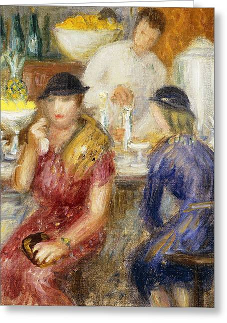 Eight Greeting Cards - Study for The Soda Fountain Greeting Card by William James Glackens