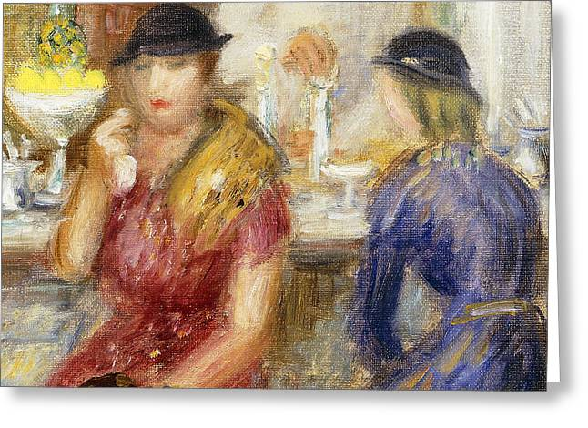 Study for The Soda Fountain Greeting Card by William James Glackens