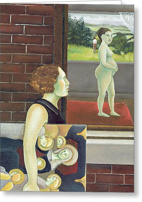 Pregnancy Paintings Greeting Cards - Study for The Songs of Travel Number Nine I have Trod the Upward and the Downward Slope Two Greeting Card by Caroline Jennings