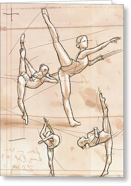 Barre Greeting Cards - Study Greeting Card by H James Hoff