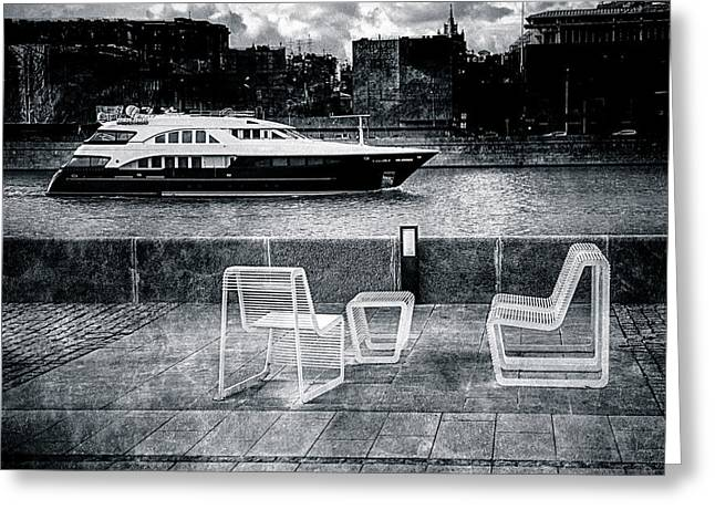 Parapet Greeting Cards - Study In Black And White Greeting Card by Alexander Senin