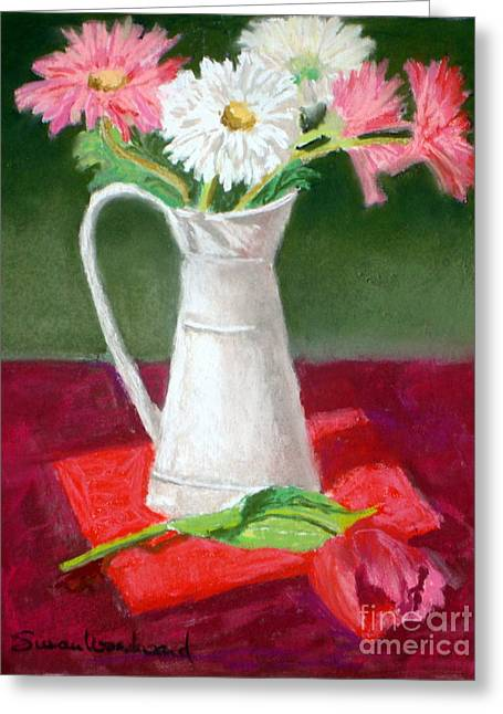 Shades Of Red Greeting Cards - Study in Red Greeting Card by Susan Woodward