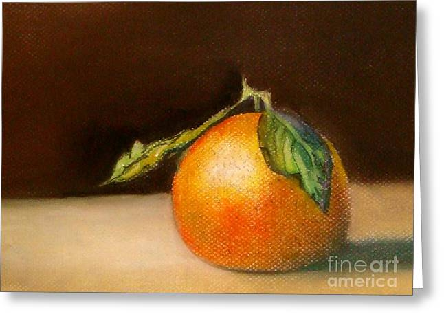 Tangerine Greeting Cards - Study of a tangerine Greeting Card by Lamarr Kramer