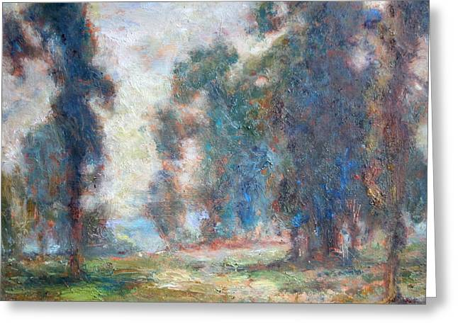 Edgar Payne Greeting Cards - Study of An Impressionist Master Greeting Card by Quin Sweetman