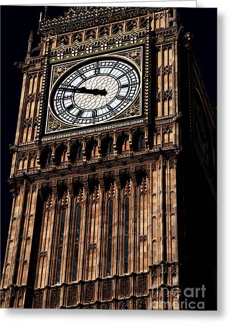 Clock Hands Greeting Cards - Study of Ben Greeting Card by John Rizzuto