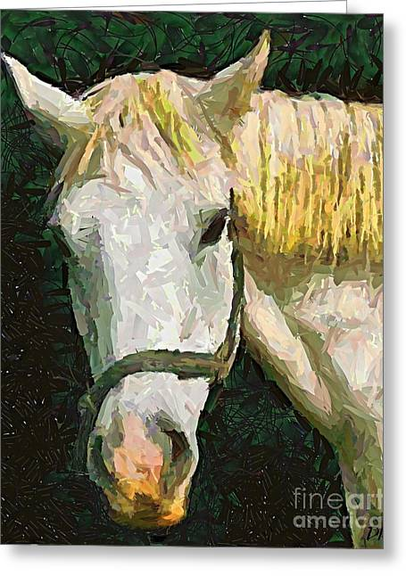Study Of The Horse's Head Greeting Card by Dragica  Micki Fortuna