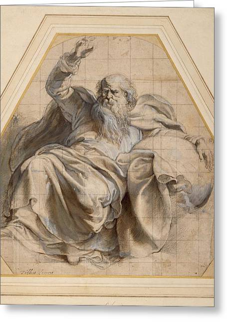 Gestures Drawings Greeting Cards - Study Of Zacchariah Greeting Card by Peter Paul Rubens