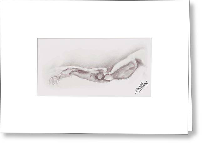 Pencil Drawing Digital Art Greeting Cards - Study Pencil Greeting Card by Joaquin Abella