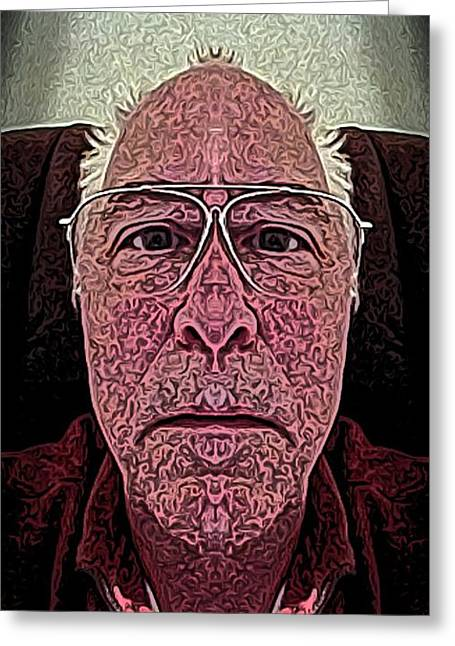 Self-portrait Greeting Cards - Study Greeting Card by Ron Bissett