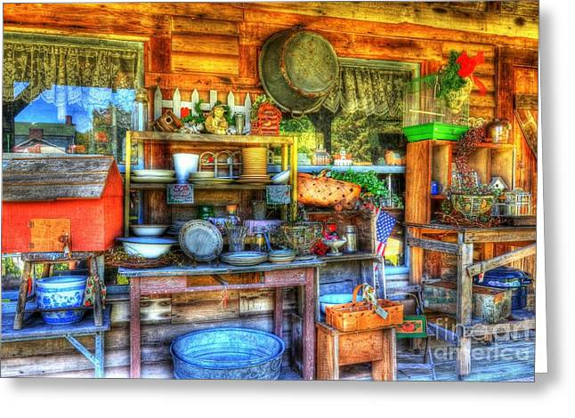 Indiana Scenes Greeting Cards - Stuff For Sale Greeting Card by Mel Steinhauer