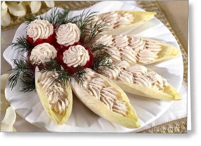 Party Food Greeting Cards - Stuffed Belgium Endive Greeting Card by Iris Richardson