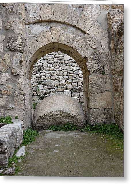 Rolling Stones Photographs Greeting Cards - Remains of the Pools of Bethesda Greeting Card by Rita Adams