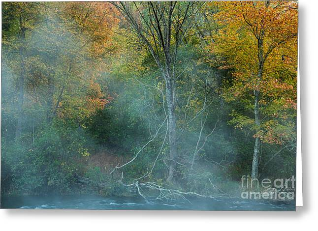 Mystical Landscape Greeting Cards - Stunning Beauty Greeting Card by Iris Greenwell
