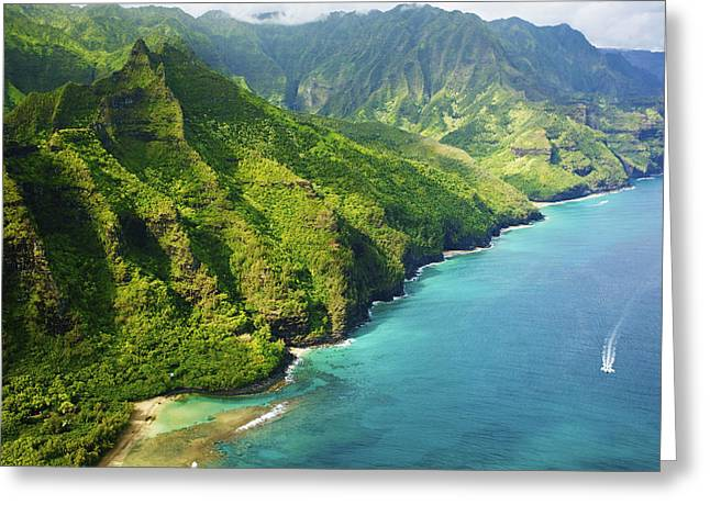 Sightsee Greeting Cards - Stunning Kauai Coastline Greeting Card by Kicka Witte