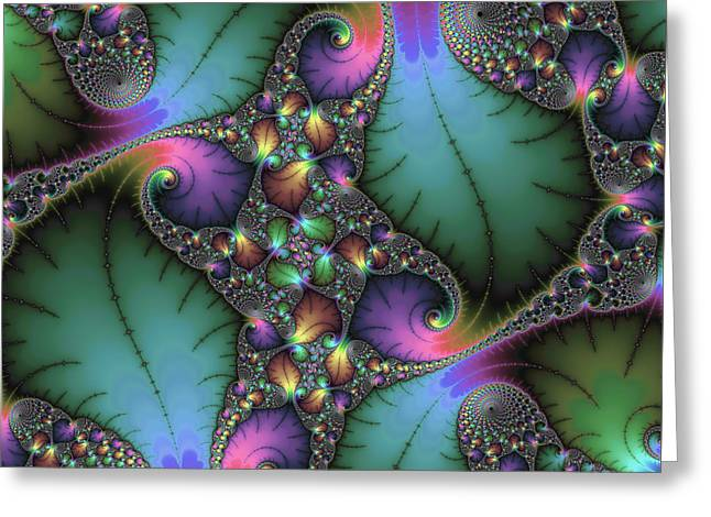 Floral Structure Greeting Cards - Stunning mandelbrot fractal Greeting Card by Matthias Hauser