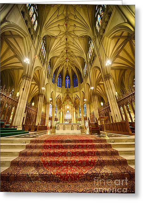 Neogothic Greeting Cards - Stunning St Patricks I Greeting Card by Ray Warren
