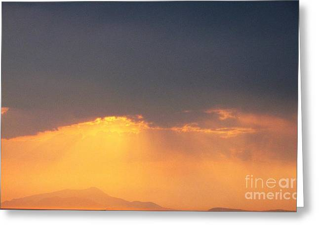 Italian Sunset Greeting Cards - Morning Radiance Greeting Card by Cimorene Photography