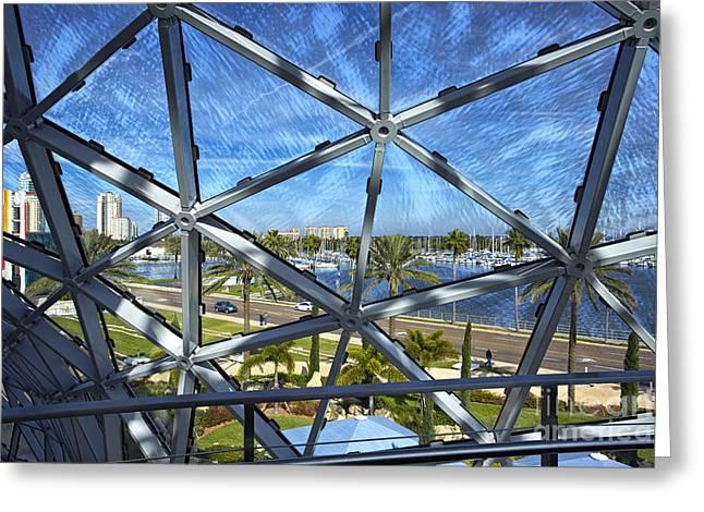 St Petersburg Florida Pyrography Greeting Cards - Stunning View Greeting Card by Eyzen M Kim
