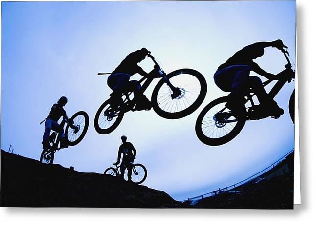 18-19 Years Greeting Cards - Stunt Cyclists, Alberta, Canada Greeting Card by Corey Hochachka