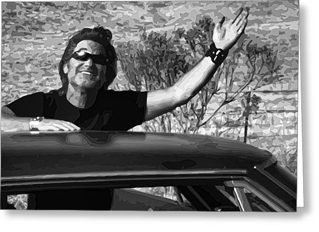 Death Proof Greeting Cards - Stuntman Mike - Death Proof Greeting Card by Gordon Dean II
