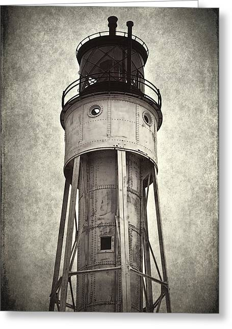 Historic Ship Greeting Cards - Sturgeon Bay Ship Canal Lighthouse II Greeting Card by Joan Carroll