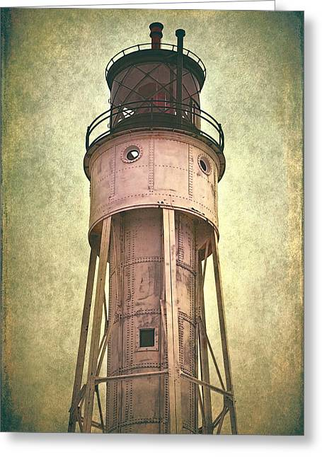 Historic Ship Greeting Cards - Sturgeon Bay Ship Canal Lighthouse Greeting Card by Joan Carroll
