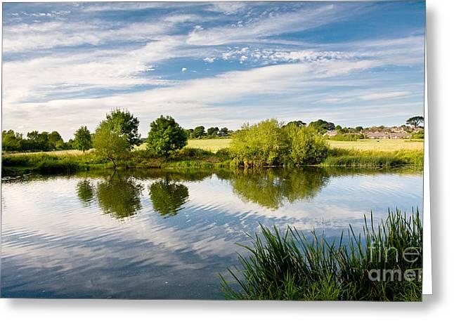 Sturminster Newton - River Stour - Dorset - England Greeting Card by Natalie Kinnear