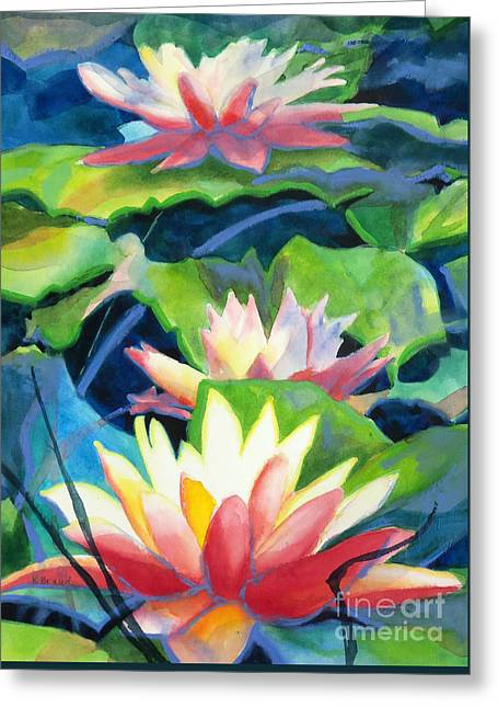 Interior Still Life Greeting Cards - Styalized Lily Pads 3 Greeting Card by Kathy Braud
