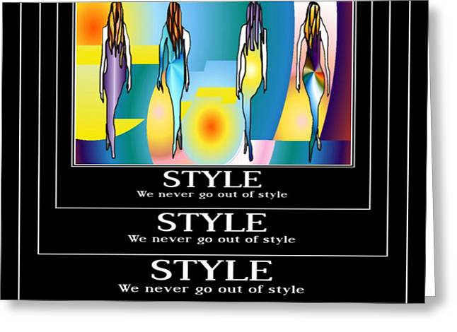 Style Greeting Card by Kim Peto