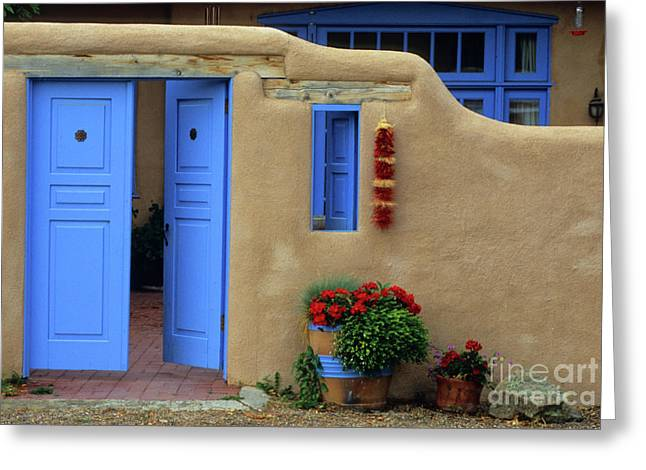 Styling In Taos Greeting Card by Bob Christopher
