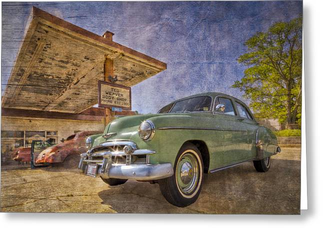 Delux Greeting Cards - Stylish Chevy Greeting Card by Debra and Dave Vanderlaan