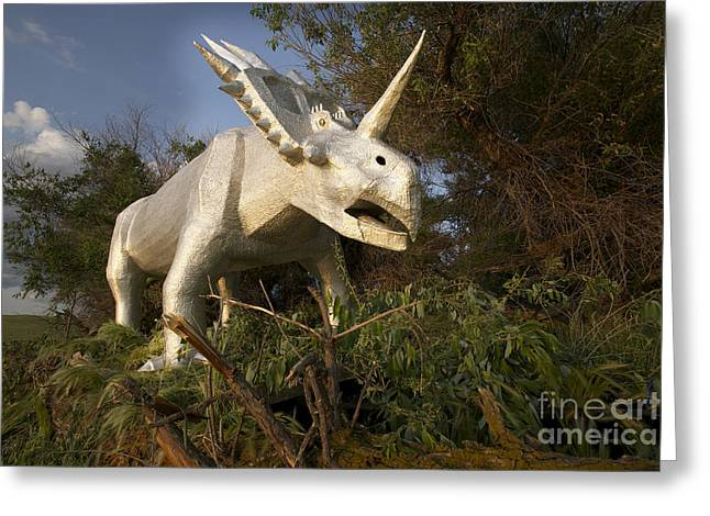 Large Scale Sculptures Greeting Cards - Styracosaurus Greeting Card by Rick Kawchack