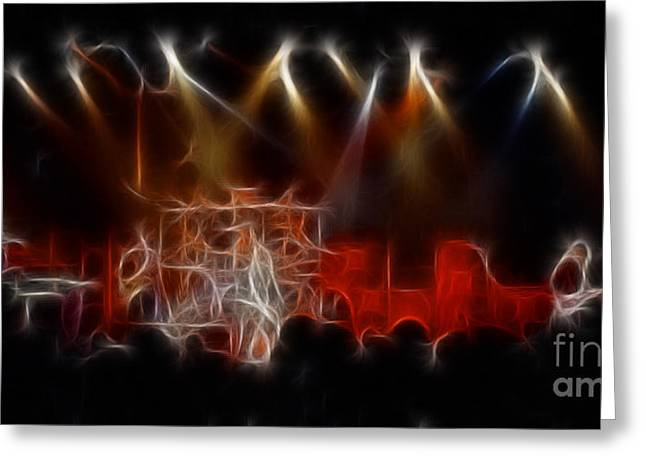 Live Art Greeting Cards - STYX-91-GA4-Fractal Greeting Card by Gary Gingrich Galleries