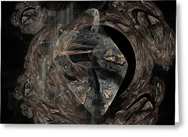 Conscious Digital Art Greeting Cards - Conscious Mind  Greeting Card by Solomon Barroa