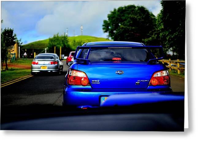 Prodrive Greeting Cards - Subaru Convoy Greeting Card by Phil Kellett