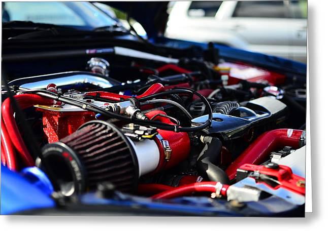 Impreza Greeting Cards - Subaru Impreza  Engine Bay 400hp Greeting Card by Phil Kellett