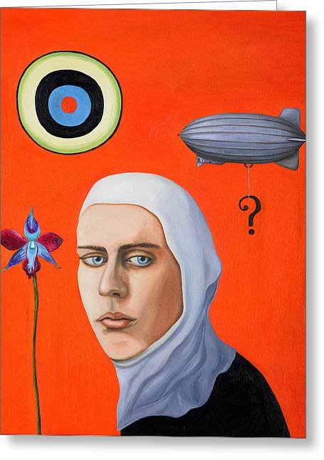Subconscious Greeting Cards - Subconscious Greeting Card by Leah Saulnier The Painting Maniac