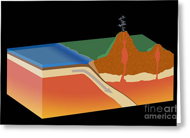 Moving Away Greeting Cards - Subduction Greeting Card by Monica Schroeder / Science Source