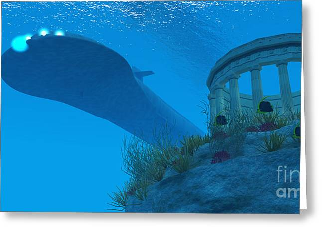Greek Butterflies Greeting Cards - Submarine Greeting Card by Corey Ford