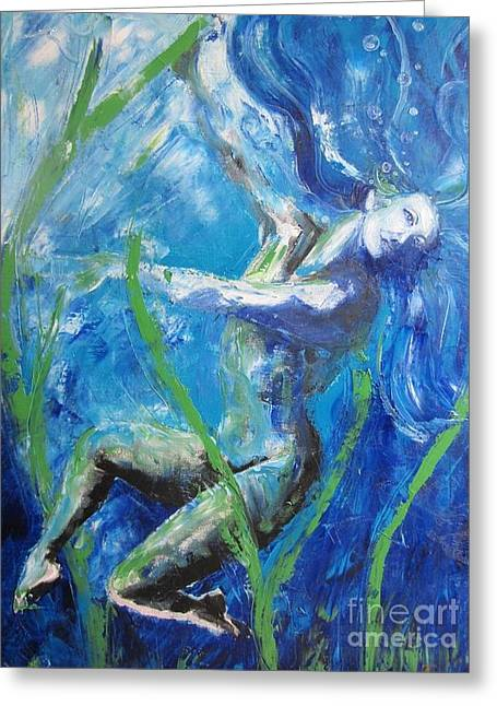 Barrie Greeting Cards - Submerge Greeting Card by Angela Francis