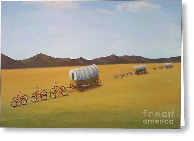 Conestoga Paintings Greeting Cards - Substitutes Greeting Card by Phyllis Andrews