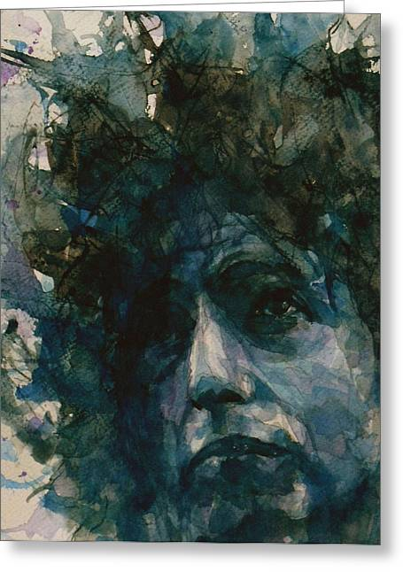 Bob Dylan Paintings Greeting Cards - Subterranean Homesick Blues  Greeting Card by Paul Lovering